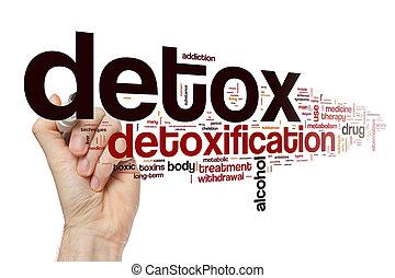 概念, 単語, 雲, detox