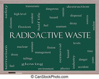 概念, 単語, 黒板, 放射性, 無駄, 雲