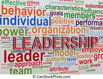 概念, 単語, 3d, リーダーシップ, タグ