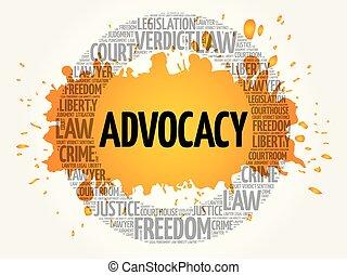 概念, 単語, advocacy, 雲