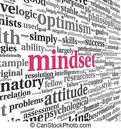 概念, 単語, mindset, 雲, タグ