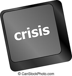 概念, 危険, ビジネス, 提示, 危機, 管理, キー, 保険