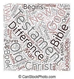 概念, 古い, テキスト, 相違, wordcloud, 背景, 新約聖書, 新しい