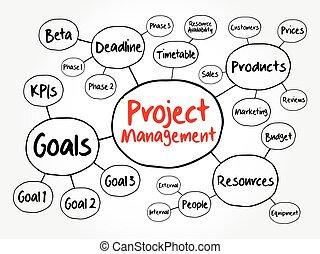 概念, 商业, 头脑, 项目管理, 地图, 流程图