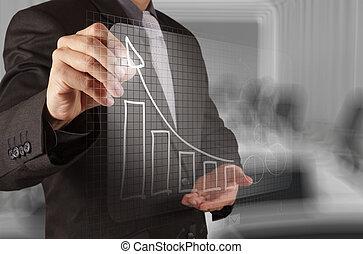 概念, 商业, 工作, 现代, 手, 计算机, 商人, 新, 策略