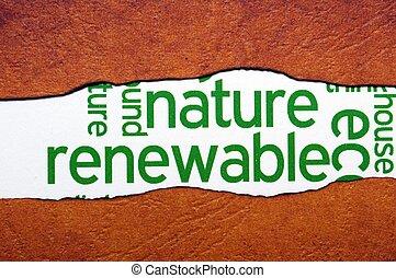 概念, 回復可能, 自然