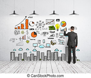 概念, 图, 企业家