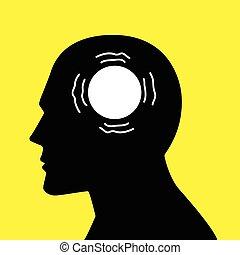 概念, 圖表, 頭腦, 疾病, parkinson's