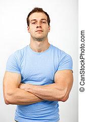 概念, 堅い, bully, -, 筋肉, 横柄, 見る, 人, ∥あるいは∥