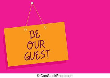 概念, 壁, テキスト, 印, 私達の, 終わり, メッセージ, 開いた, ピンク, 執筆, バックグラウンド。, 板, コミュニケーション, オレンジ, あなた, ありなさい, ビジネス, guest., 歓迎, 滞在, 単語, 私達, 招待, 厚遇