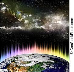 概念, 外宇宙, 世界的である, 太陽, 地球, 暖まること, 白熱