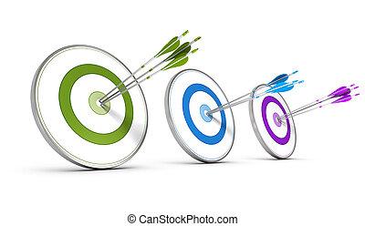 概念, 多数, ビジネス, 目的, -, 戦略上である, 達成