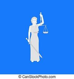 概念, 女, イラスト, 法律