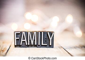 概念, 家族, 凸版印刷, 型, 主題, タイプ