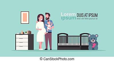 概念, 家族, 現代, カンニングしなさい, 息子, 新生, 寝室, 妊娠, 地位, スペース, 赤ん坊, 保有物, 内部, 幸せ, 平ら, フルである, 親であること, 赤ん坊, コピー, 妻, 長さ, 夫