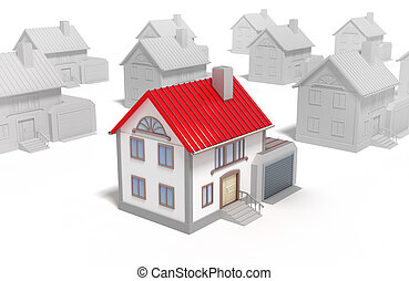 概念, 家, 隔離された, 最も良く, 3d