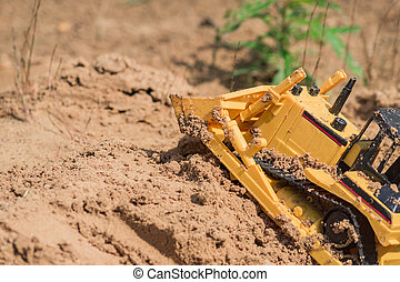 概念, 小さい, 砂, プラスチック, 採石場, 仕事, 建設, 坑夫, おもちゃ