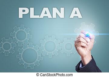 概念, 屏幕, 實際上, 計劃, 商人, 圖畫