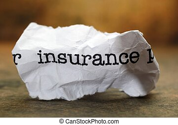 概念, 屑, 保険