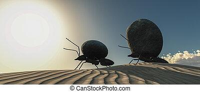 概念, 工作, 螞蟻, 隊