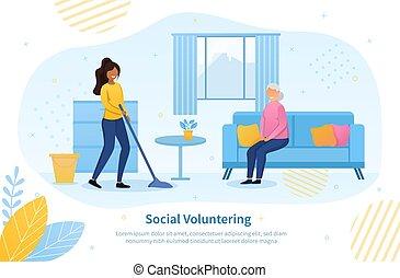 概念, 年长, 社会, 志愿者