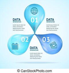 概念, 広告, ポスター, set., ベクトル, infographics, カード