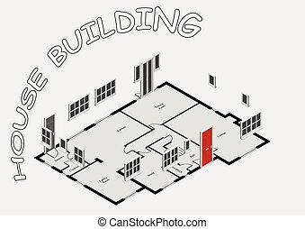 概念, 建物, 家
