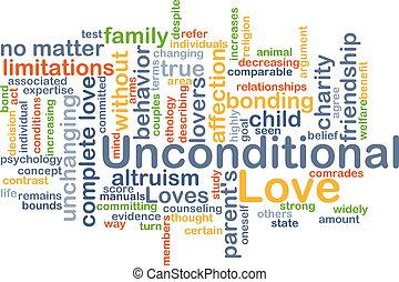 概念, 愛, unconditional, 背景