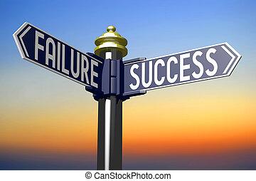 概念, 成功, -, 十字路, 失敗, ∥あるいは∥