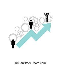 概念, 成長, ビジネス, アイコン