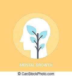 概念, 成長, 精神, アイコン