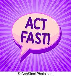 概念, 手の執筆, 提示, 行為, fast., ビジネス, 写真, テキスト, 自発的に, 引っ越して来なさい, ∥, 最も高く, 州, の, スピード, initiatively, スピーチ泡, 考え, メモ, 紫色の影, 重要, intention, ray.