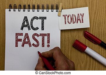 概念, 手の執筆, 提示, 行為, fast., ビジネス, 写真, テキスト, 自発的に, 引っ越して来なさい, ∥, 最も高く, 州, の, スピード, initiatively, 人, 保有物, マーカー, ノート, 木製のテーブル, ∥ために∥, 今日, コーヒー, cup.