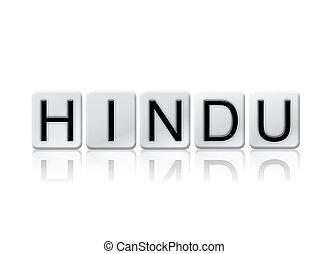 概念, 手紙, ヒンズー教信徒, 隔離された, 主題, タイルを張った