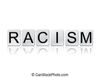概念, 手紙, 人種差別, 隔離された, 主題, タイルを張った