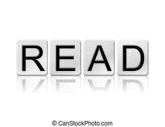概念, 手紙, 読まれた, 隔離された, 主題, タイルを張った