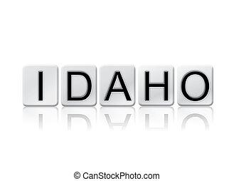 概念, 手紙, 隔離された, 主題, タイルを張った, アイダホ