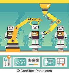 概念, 手臂, 機器人