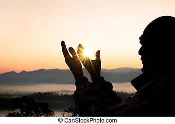 概念, 手, 心, やし, 人間, 開いた, カトリック教, バックグラウンド。, 神, repent, pray., 宗教, イースター, キリスト教徒, eucharist, 助力, 療法, 貸された, worship., の上, 戦い, 祝福しなさい, 勝利