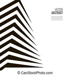 概念, 抽象的, 現代, バックグラウンド。, 黒, 建築, 白, 建物。