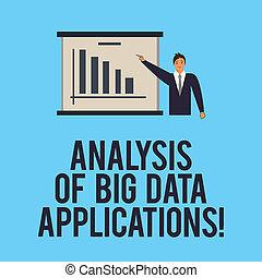 概念, 指すこと, テキスト, 現代, 地位, 情報, apps, 執筆板, スーツ, ビジネス, 大きい, チャート, space., 単語, 技術, コピー, データ, 人, バー, 分析, applications.