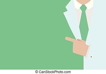 概念, 指すこと, 昇進, デザイン, ブランク, 索引, スペース, 隔離された, 指, テンプレート, スーツ, 空, 板, 平ら, ビジネス, 材料, イラスト, 手, ポスター, コピー, クーポン, 人, ベクトル, 提出すること, 左