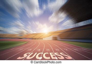 概念, 操業, success., 成功, トラック, シンボル, 印