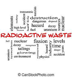 概念, 放射性, 帽子, 雲, 単語, 無駄, 赤