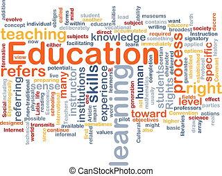 概念, 教育, 背景