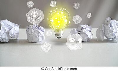 概念, 新しい, 創造性, 考え, 革新