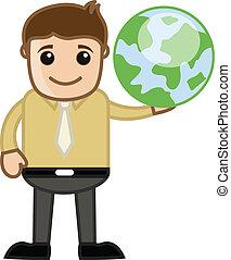 概念, 旅行, -, 藏品, 地球, 人