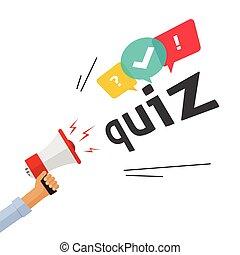 概念, 旗, ショー, 質問, 競争, アンケート, 歌いなさい, 試験