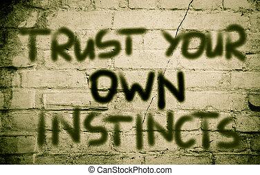 概念, 本能, 自己, 信任, 你