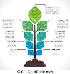概念, 樹, 創造性, info-graphics